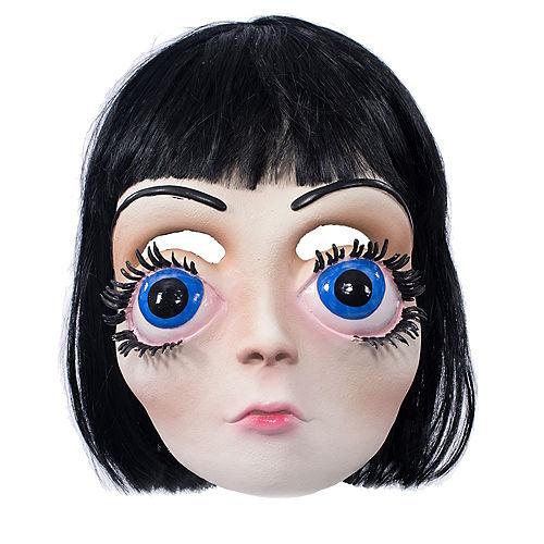 Adult Big Eyes Girl Mask Image #1