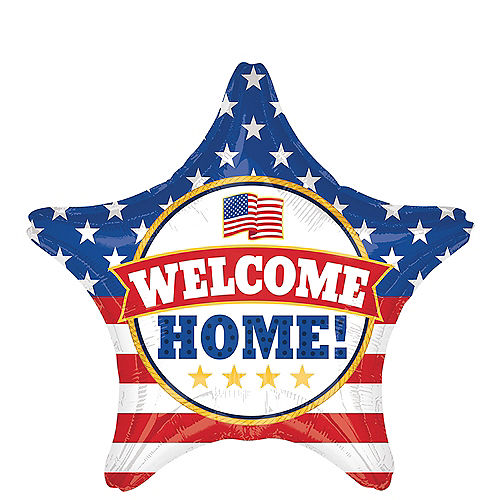 Patriotic Welcome Home Star Balloon 19in Image #1