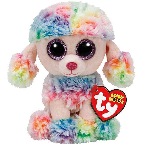 Rainbow Beanie Boo Poodle Dog Plush Image #1