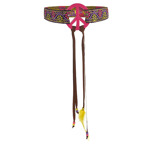 Adult Peace Sign Hippie Headband Image #1