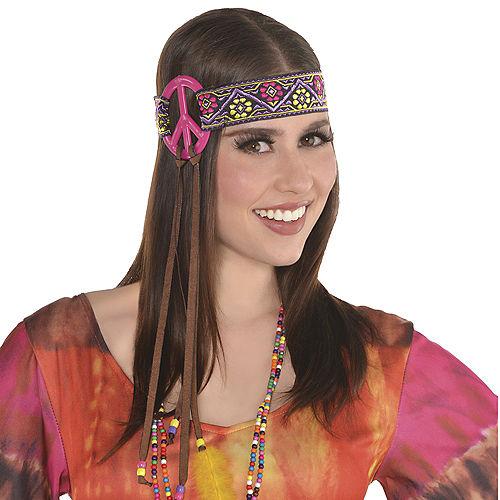 Adult Peace Sign Hippie Headband Image #2