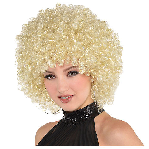 Adult Blonde Curly Wig Image #1