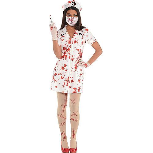 Adult Bloody Nurse Costume Accessory Kit Image #1