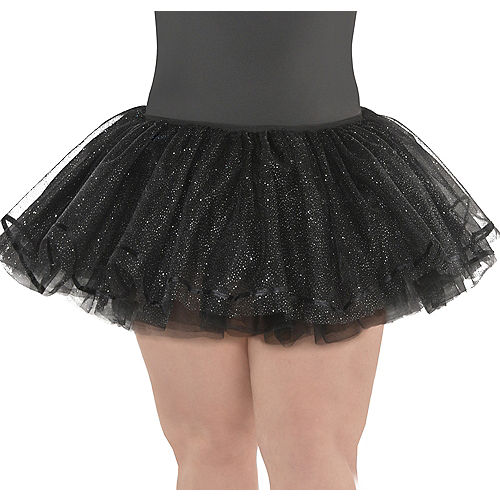 Nav Item for Adult Black Shimmer Tutu Plus Size Image #1