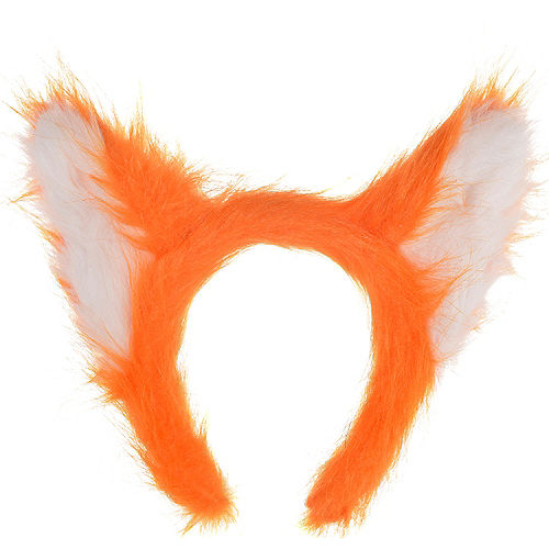 Nav Item for Adult Fox Ears Headband Image #1
