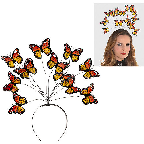 Adult Monarch Butterfly Headband Image #1