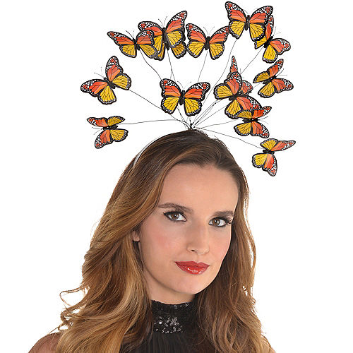 Adult Monarch Butterfly Headband Image #3