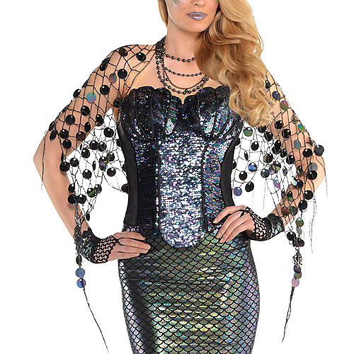 Adult Sea Siren Mermaid Net Wrap Image #1