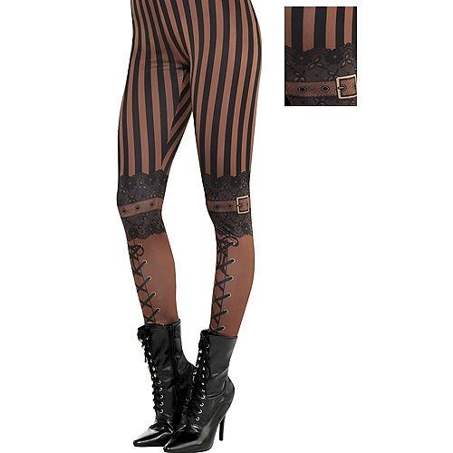 Adult Steampunk Leggings Image #1