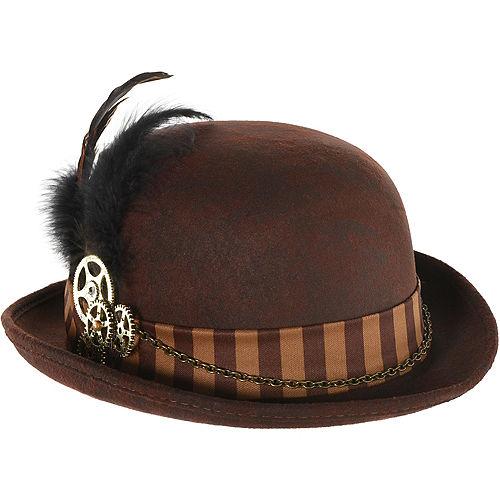 Adult Steampunk Derby Hat Image #1