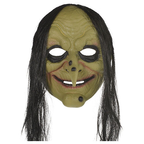 Adult Green Witch Mask Image #1