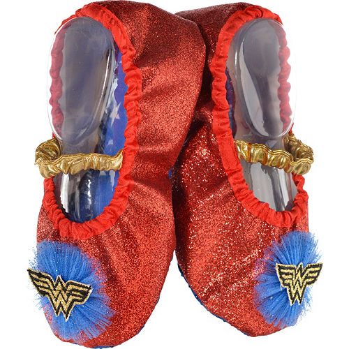 Nav Item for Child Glitter Wonder Woman Slipper Shoes Image #1