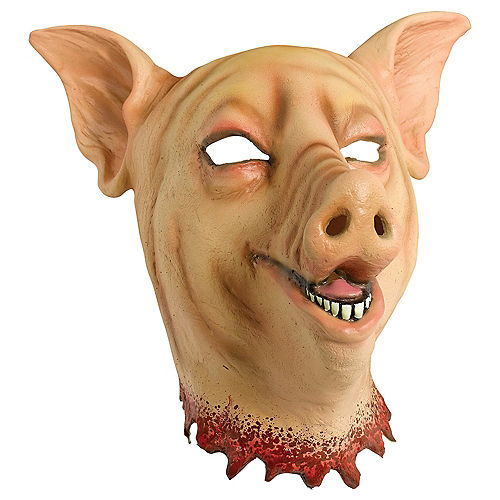 Adult Bloody Pig Head Mask Image #1