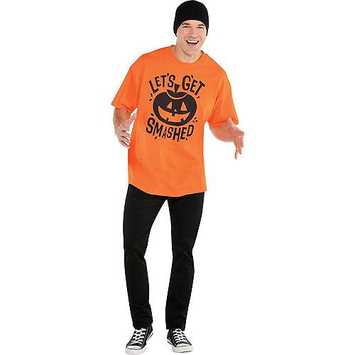 Adult Let's Get Smashed Jack-o'-Lantern T-Shirt Image #2