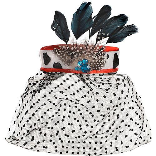 Adult Cruella De Vil Fascinator - 101 Dalmations Image #2