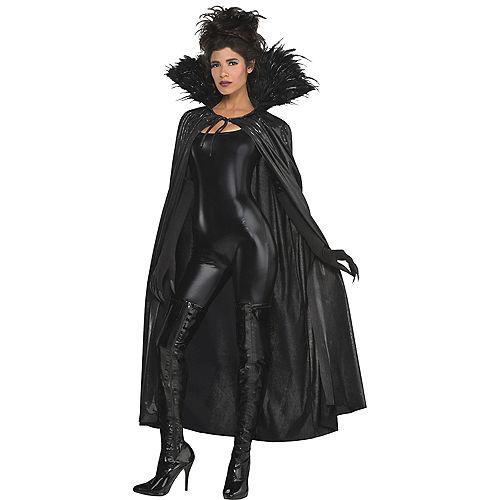 Adult Dark Raven Feather Cape Image #1
