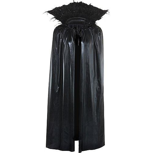 Adult Dark Raven Feather Cape Image #2