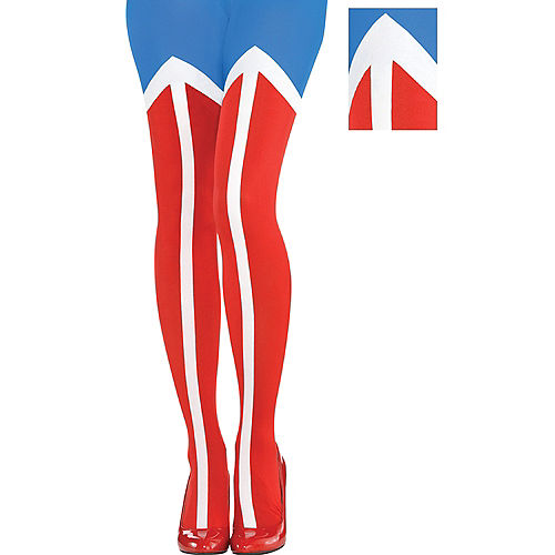 Adult Wonder Woman Tights Image #1