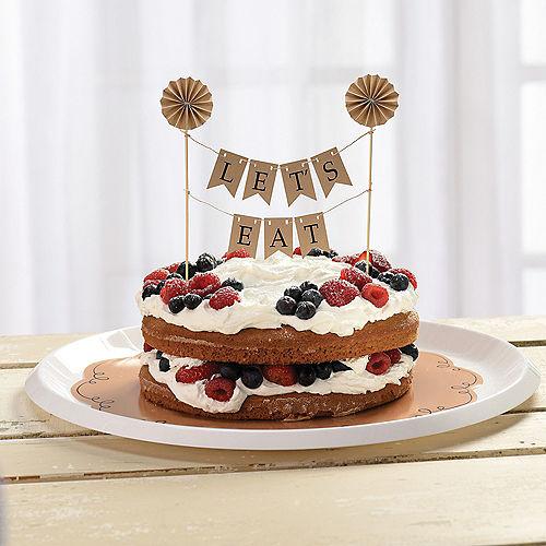Kraft Pennant Banner Cake Topper Image #2