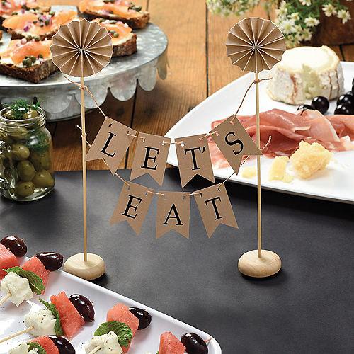Kraft Pennant Banner Cake Topper Image #3