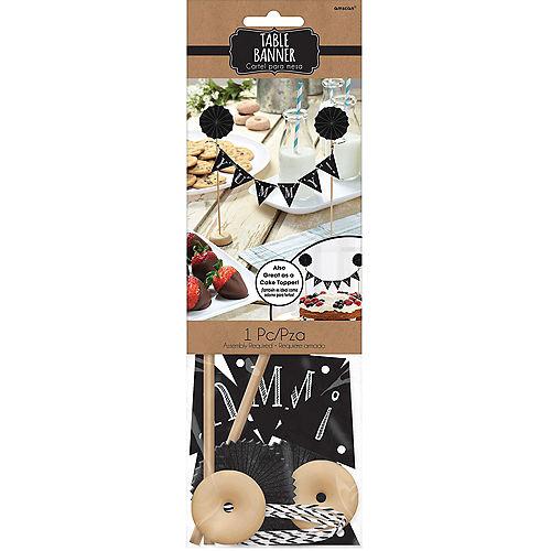 Chalkboard Pennant Banner Cake Topper Image #4