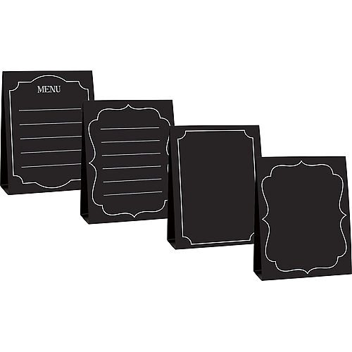 Large Chalkboard Tent Cards 4ct Image #1