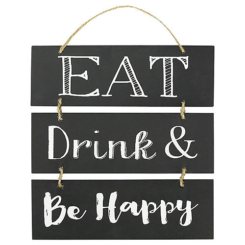 Eat Drink & Be Happy Stacked Sign Image #1