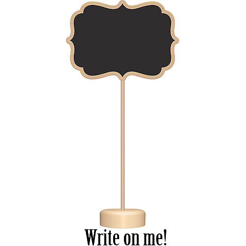 Chalkboard Wood Stands 4ct Image #1