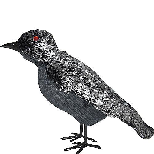Black & Silver Crow Decoration Image #1