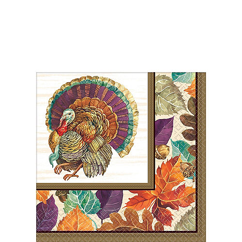 Traditional Thanksgiving Beverage Napkins 16ct Image #1