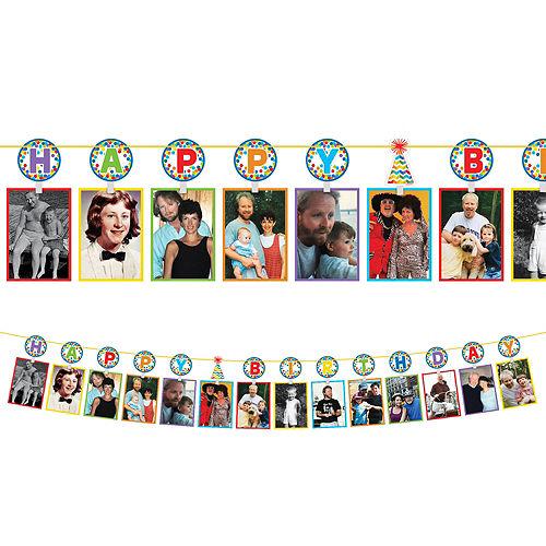 Rainbow Dot Birthday Photo Garland Image #1