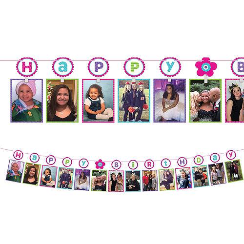 Pastel Birthday Photo Garland Image #1