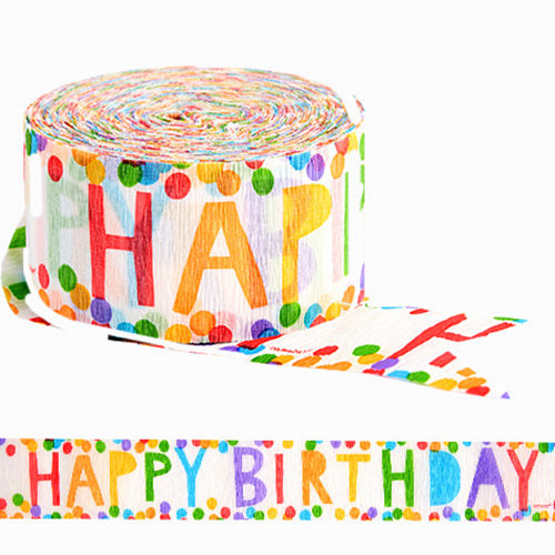 Colorful Happy Birthday Streamer Image #1