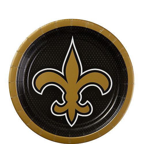 New Orleans Saints Dessert Plates 18ct Image #1