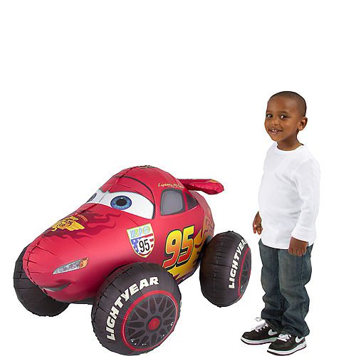 Giant Gliding Lightning McQueen Balloon - Cars 3, 27in Image #1