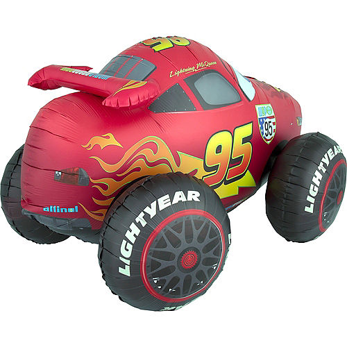 Giant Gliding Lightning McQueen Balloon - Cars 3, 27in Image #2