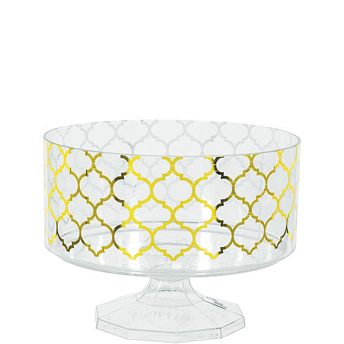 Small Metallic Gold Moroccan Plastic Trifle Container Image #1