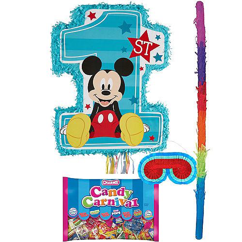 1st Birthday Mickey Mouse Pinata Kit Image #1