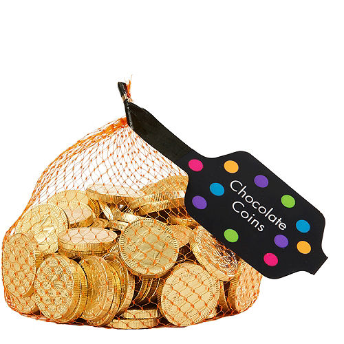 Small Gold Chocolate Coins 125pc Image #1