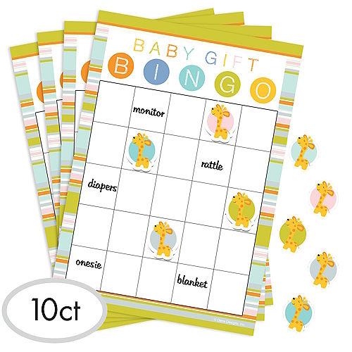 Happy Jungle Baby Shower Bingo Game Image #1