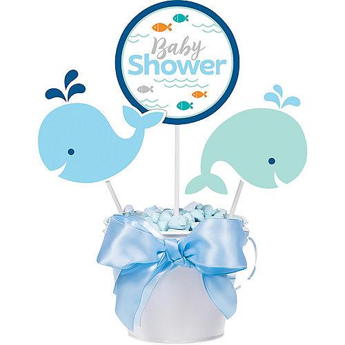 Blue Baby Whale Baby Shower Centerpiece Sticks 3ct Image #1