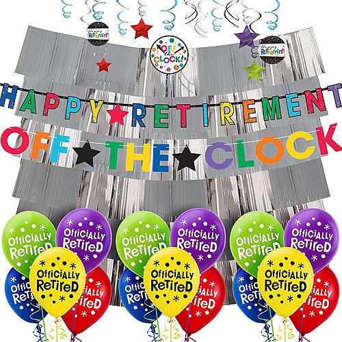 Happy Retirement Celebration Decorating Kit with Balloons Image #1
