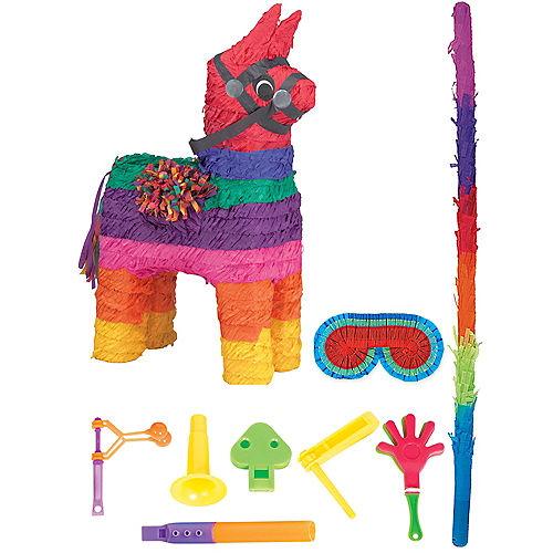 Rainbow Donkey Pinata Kit with Favors Image #1