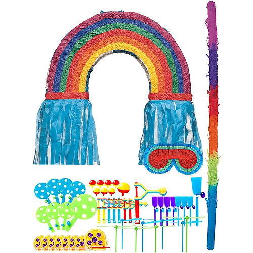 Rainbow Pinata Kit with Favors Image #1
