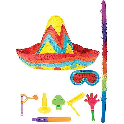 Sombrero Pinata Kit with Favors Image #1