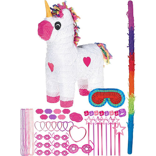 Unicorn Pinata Kit with Favors Image #1