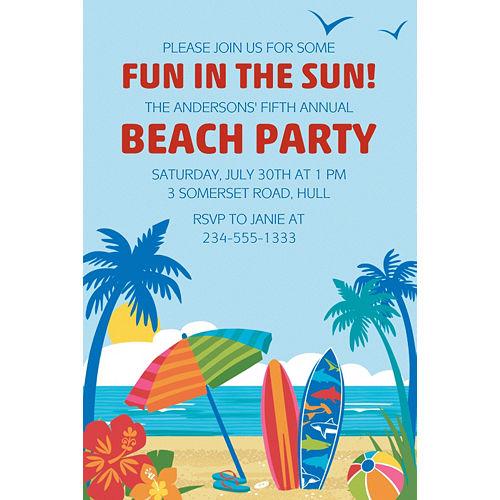 Custom Sun & Surf Beach Invitation Image #1