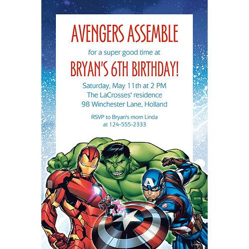 Custom Epic Avengers Invitation Image #1