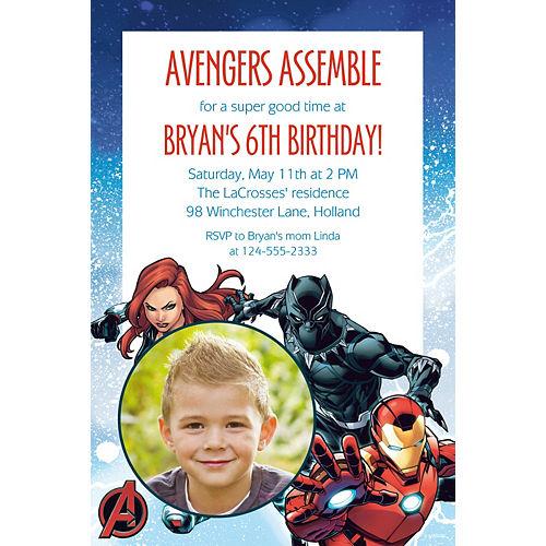 Custom Epic Avengers Photo Invitation Image #1