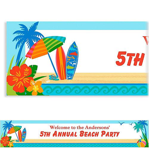 Custom Sun & Surf Beach Banner Image #1